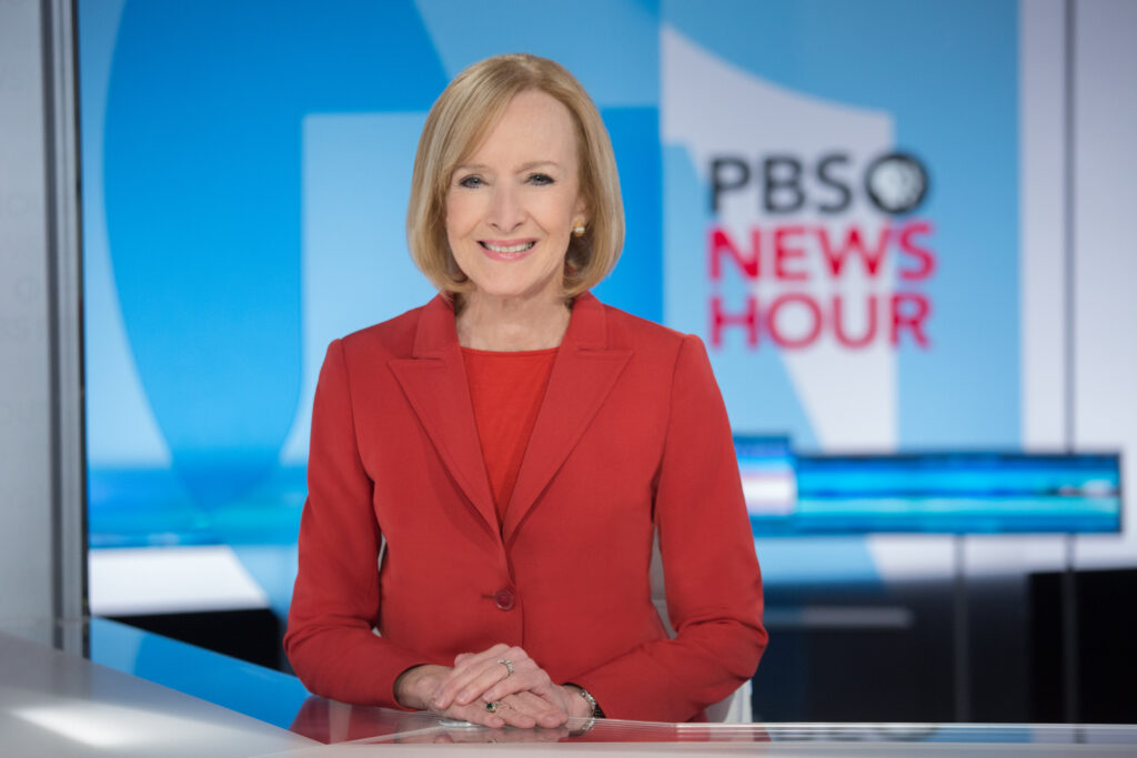 Veteran journalist Judy Woodruff has been anchoring the PBS NewsHour since 2013.