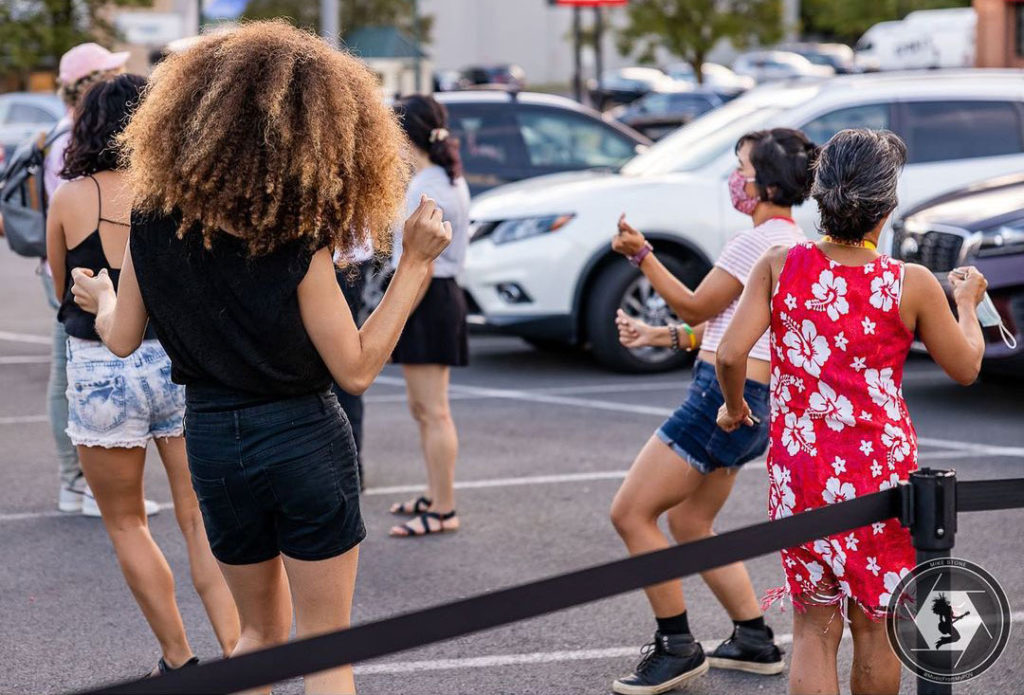 An outdoor limited-capacity show this summer held in Jammin Java's parking area.