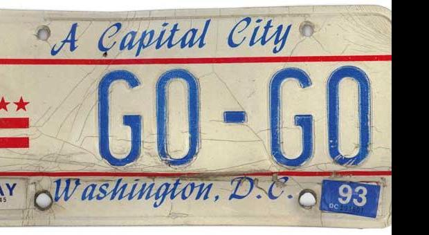 Go-Go producer and TTED label exec Maxx Kidd's Go-Go license plate.